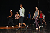 Dance school students rehearsing before a gala performance at the Miramar Theatre