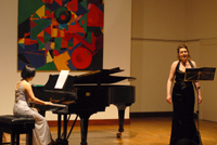 Eralys Fernandez Mendez, Cuban pianist and British mezzo-soprano Chloe Beecham