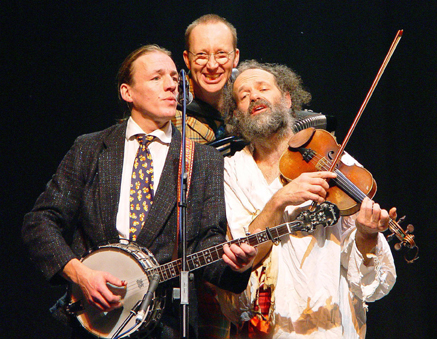 Joe, centre, with other members of the Old Rope String Band