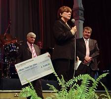 From left: Robert Gomez, Amicus Foundation;Tania Dominguez Gonzalez, Cuban Embassy; Derek Simpson, A
