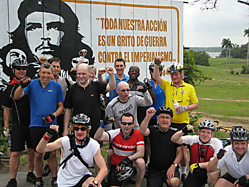 Cyclists on the 2010 trip